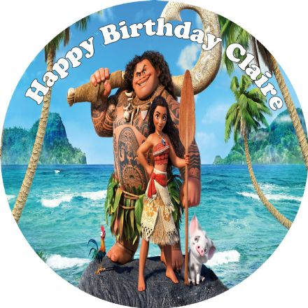 Moana Edible Cake Topper
